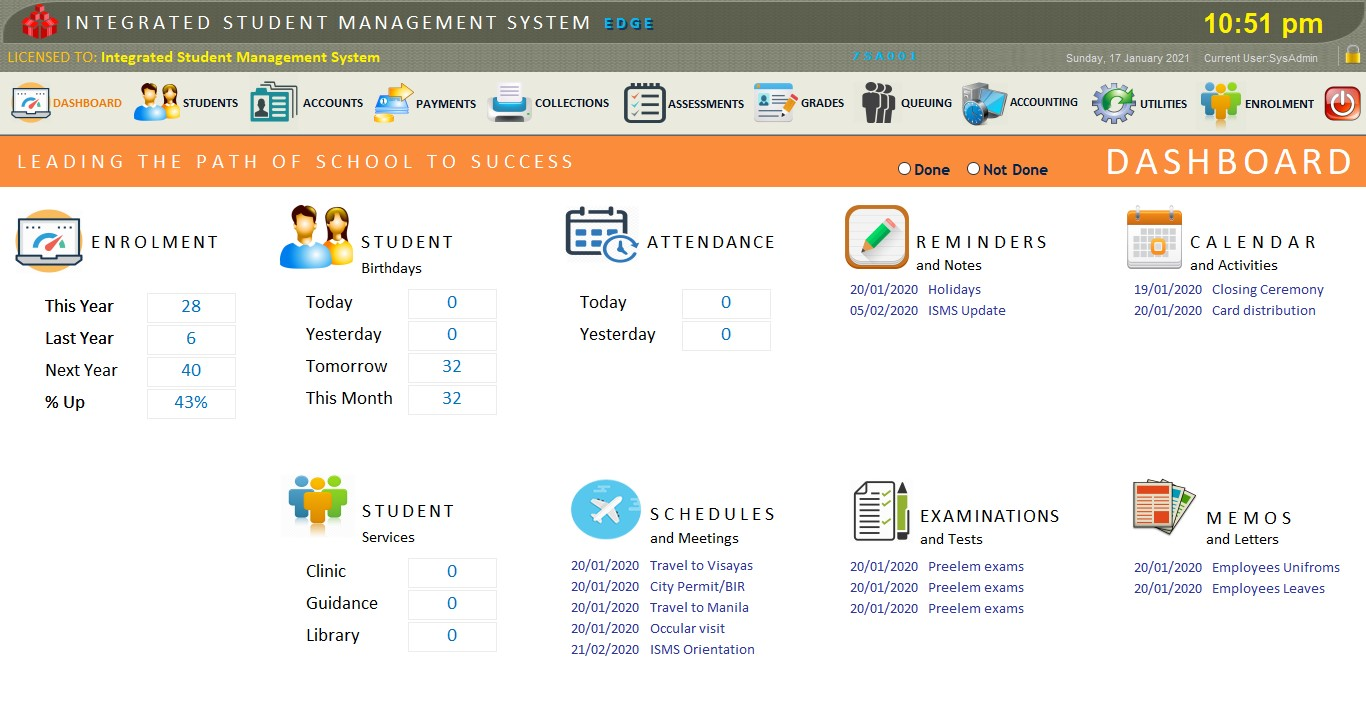 ISMS School Management System